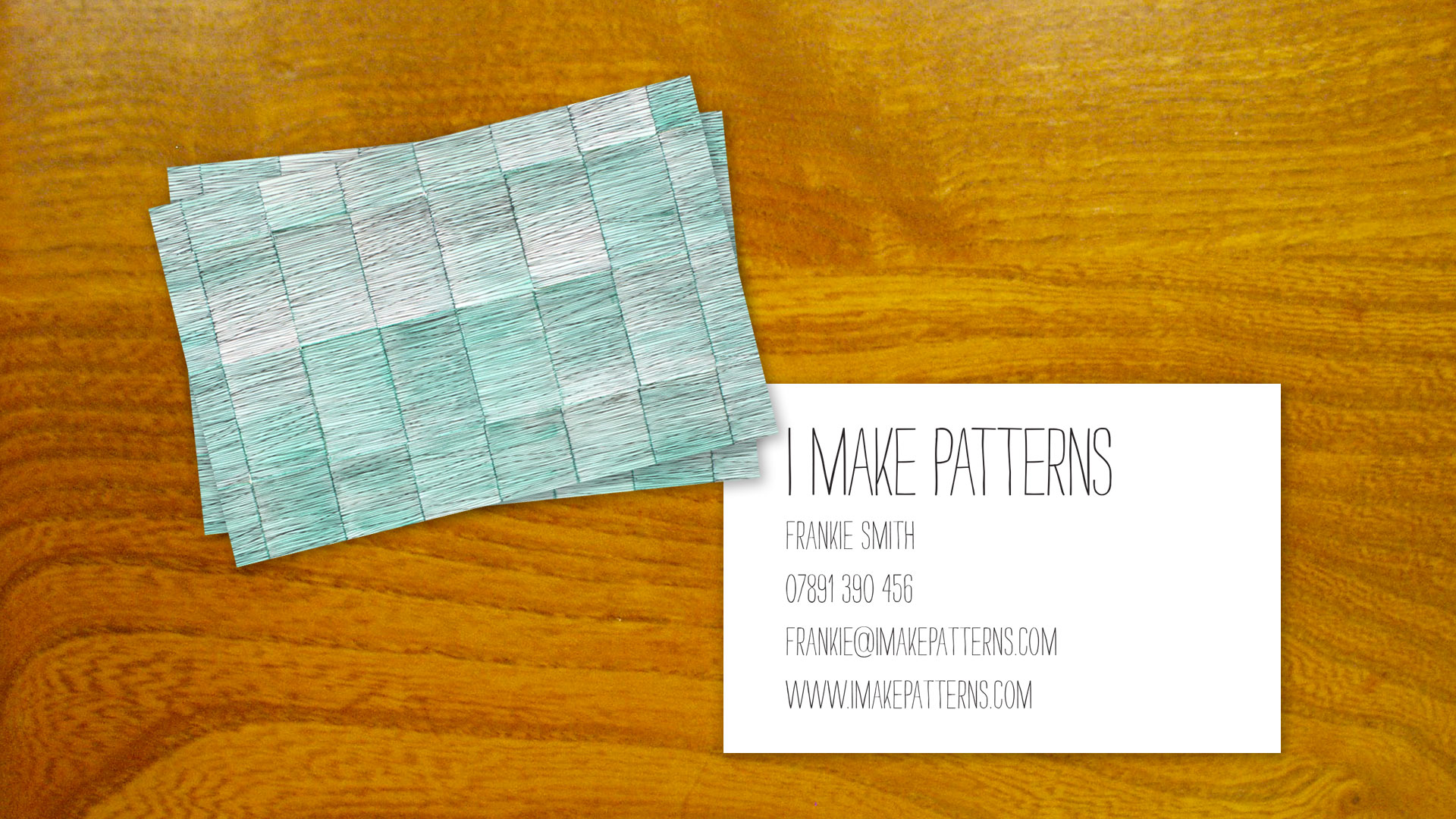 I Make Patterns Business Card