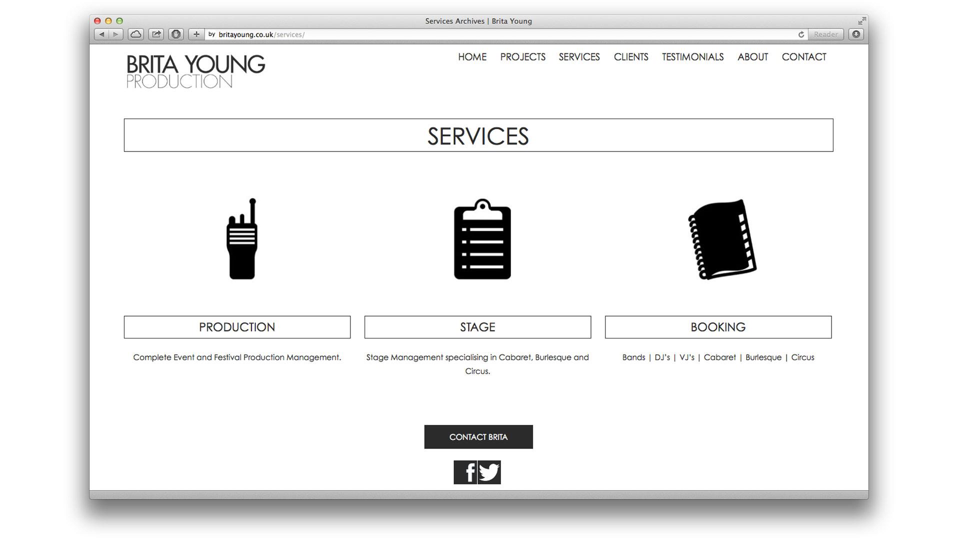 Brita Young Services Page
