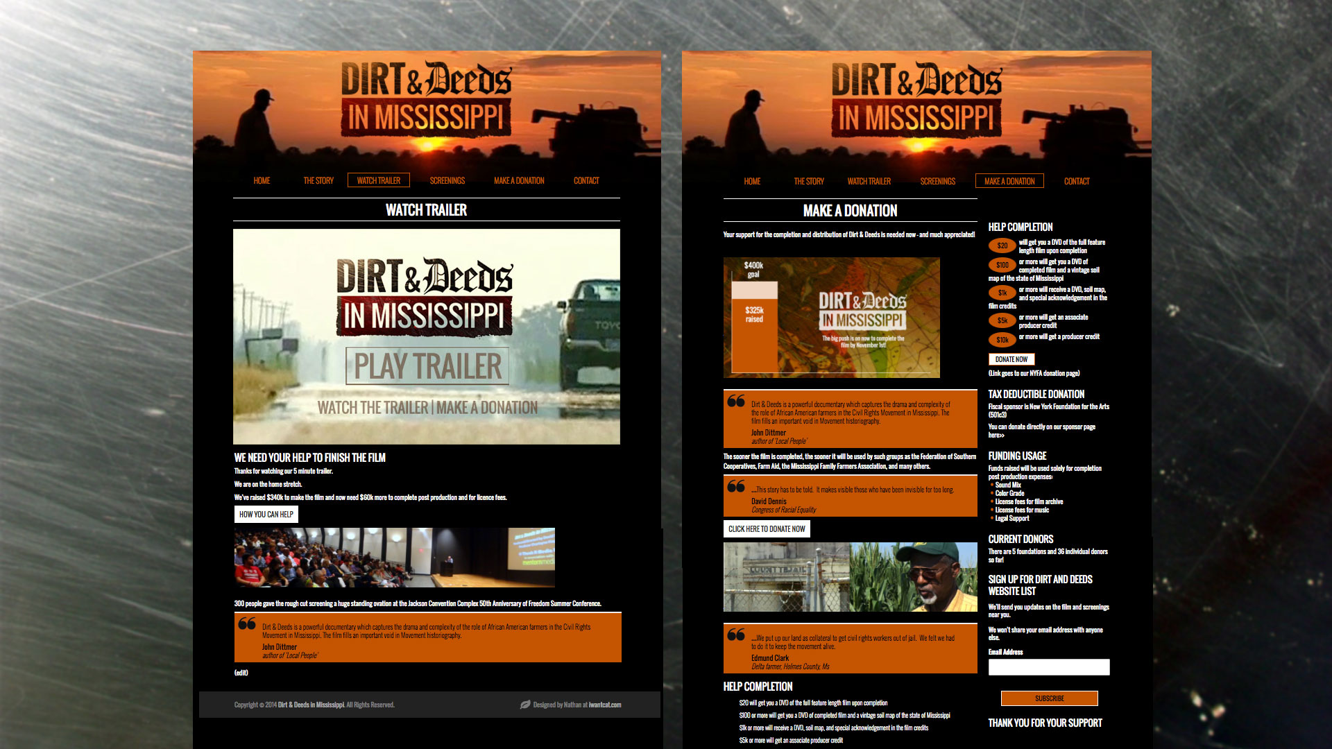 Dirt and Deeds in Missississippi website