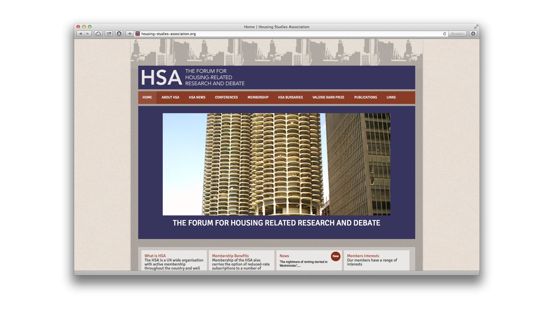 HSA home page