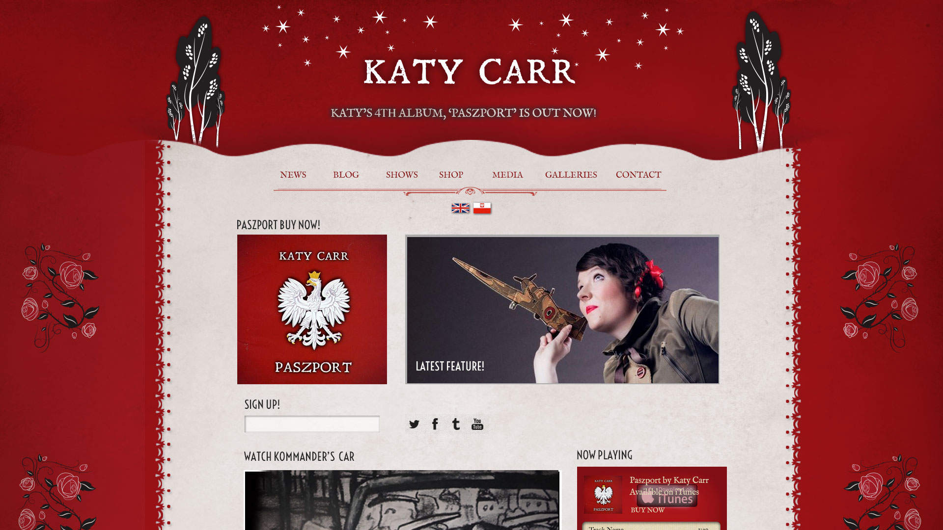 Katy Carr home page