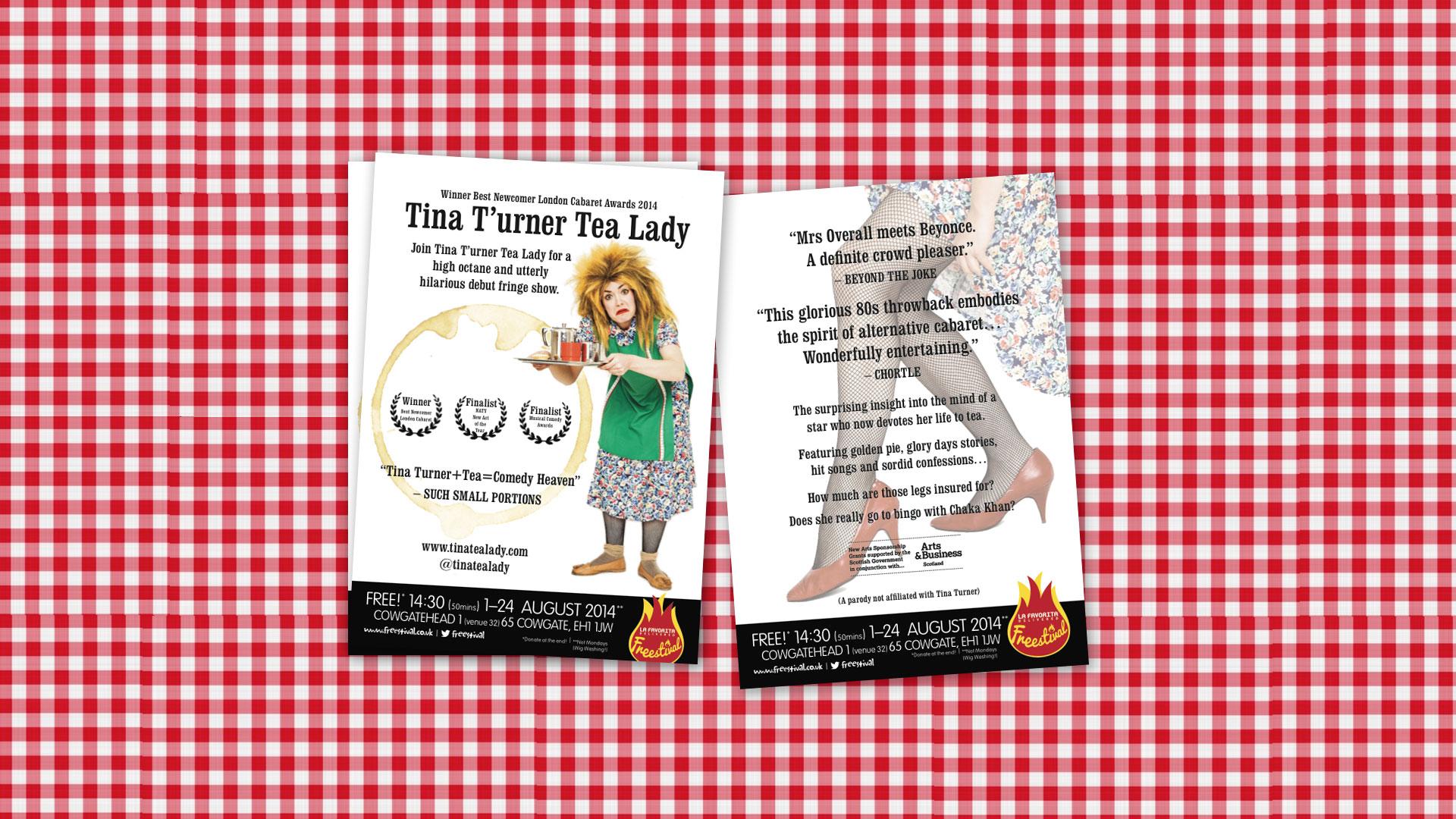 Tina T'urner Edinburgh Fringe 2014 flyer