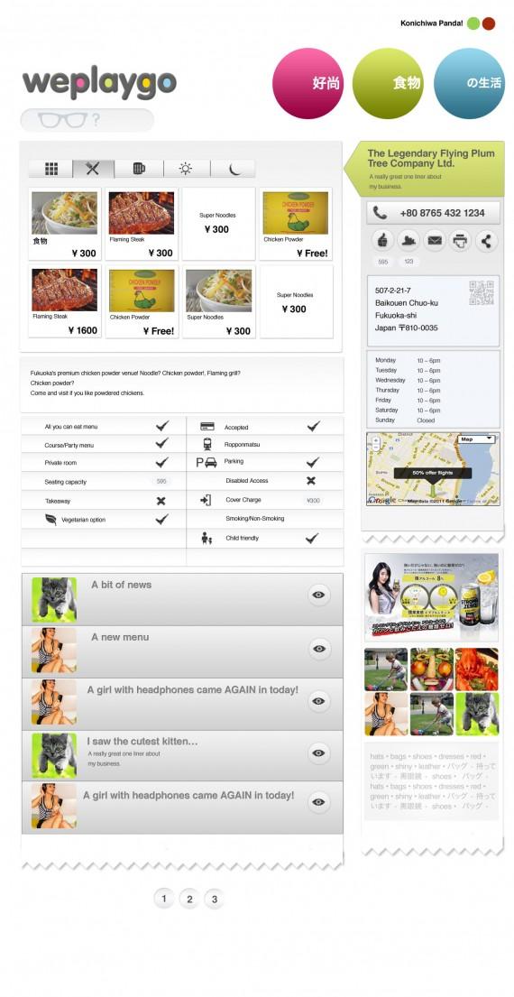 weplaygo menu page