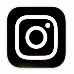 New Instagram logo in monochrome