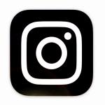 New Instagram logo in monochrome
