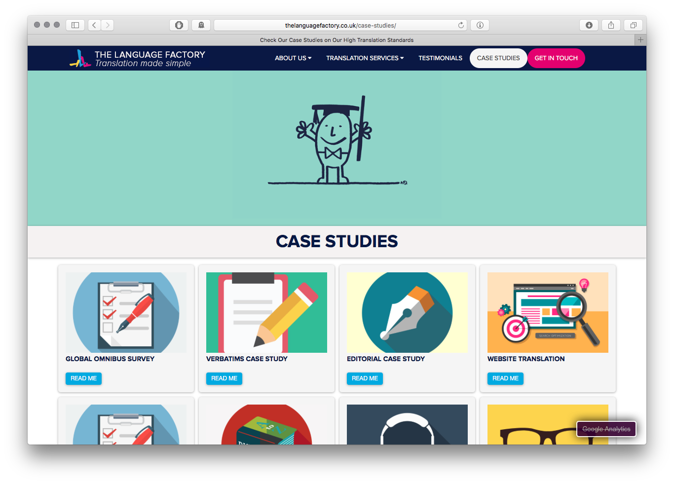 The Language Factory Case Studies page