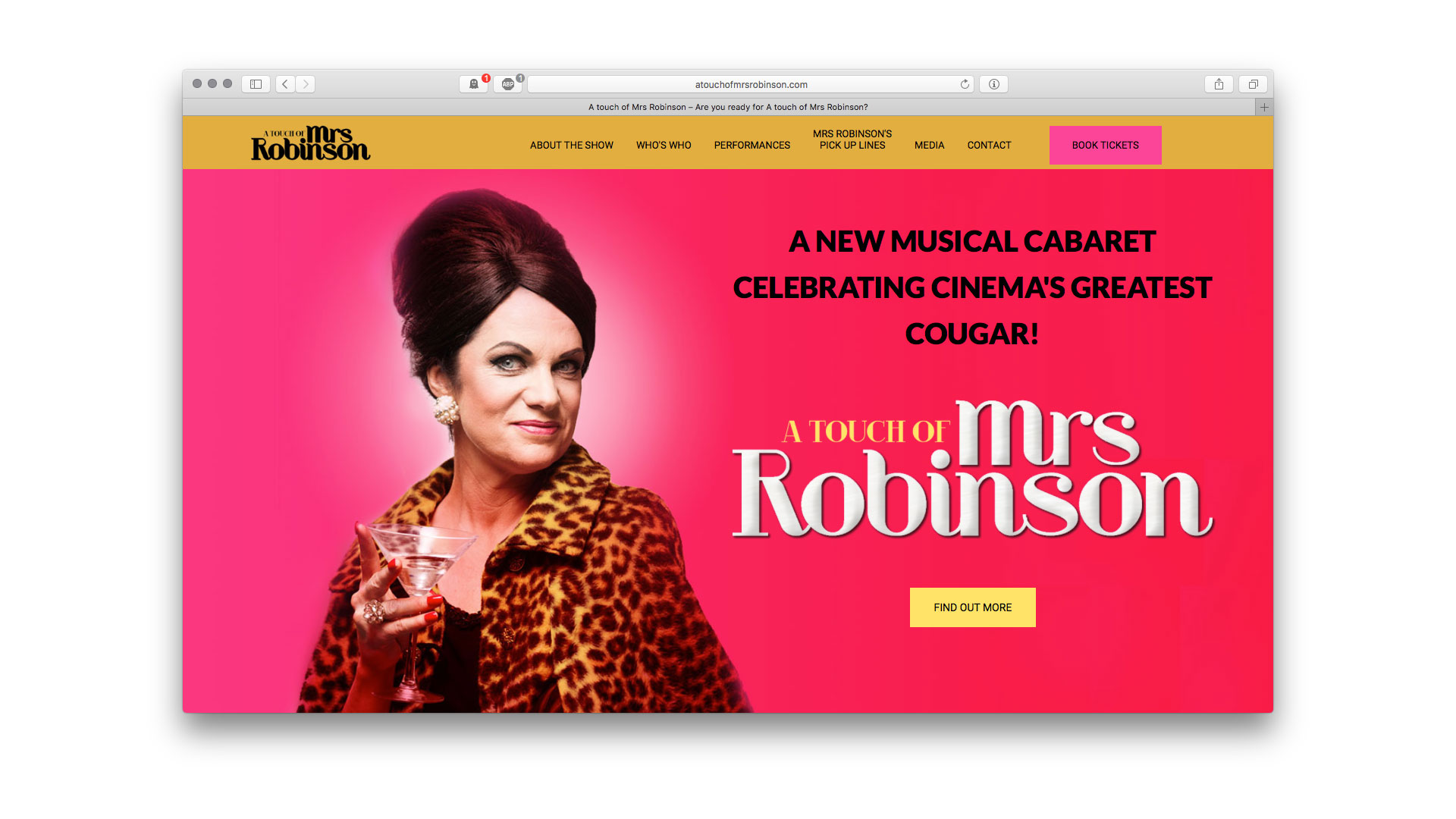 A Touch of Mrs Robinson home page Artballs Design